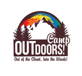 OUTdoors Gay Camp Sticky Logo